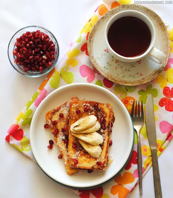 Celebrity Chef Nigella Lawson Doughnut egg vanilla extract fried bread fry sugar butter milk hot chocolate Doughnut French Toast by Nigella Lawson - Nigella Express