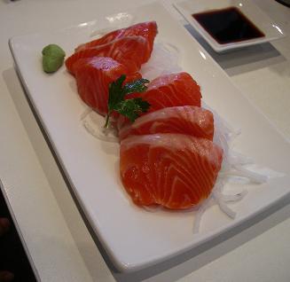 Salmon Sashimi $8.90