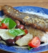 Wild Barramundi with Black Olive Salsa by Sophie Dahl