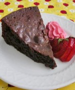 Chocolate Brownie Cake with Fresh Strawberry Whipped Cream – Chocolate Lovers United